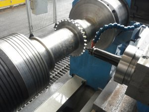 tornitura 17 rotore turbina